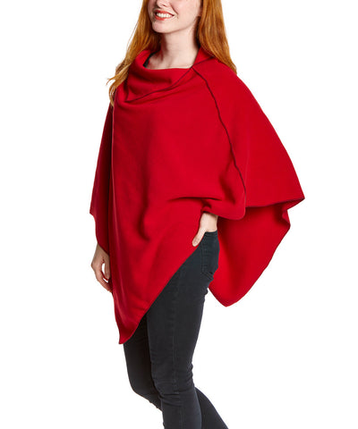 Red NunaWrap Fleece Poncho