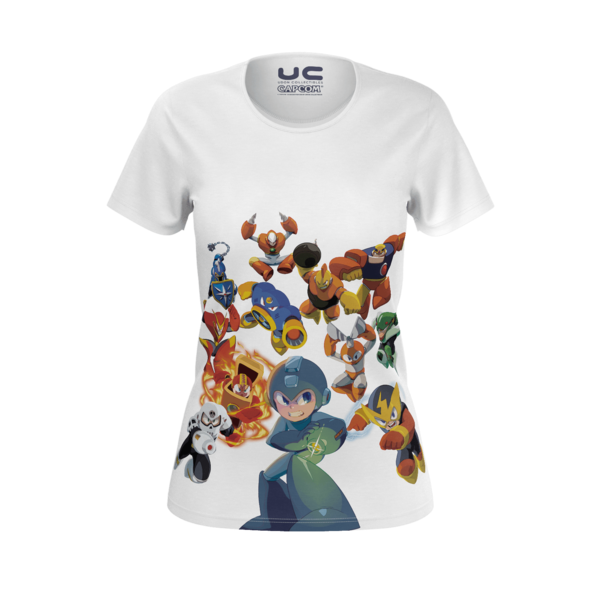 Megaman Versus Everyone - Women's Megaman Legacy Collection T- Shirt