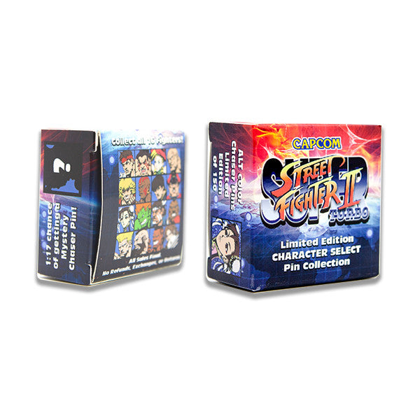 Limited Edition Street Fighter Pins (2 Per Box)