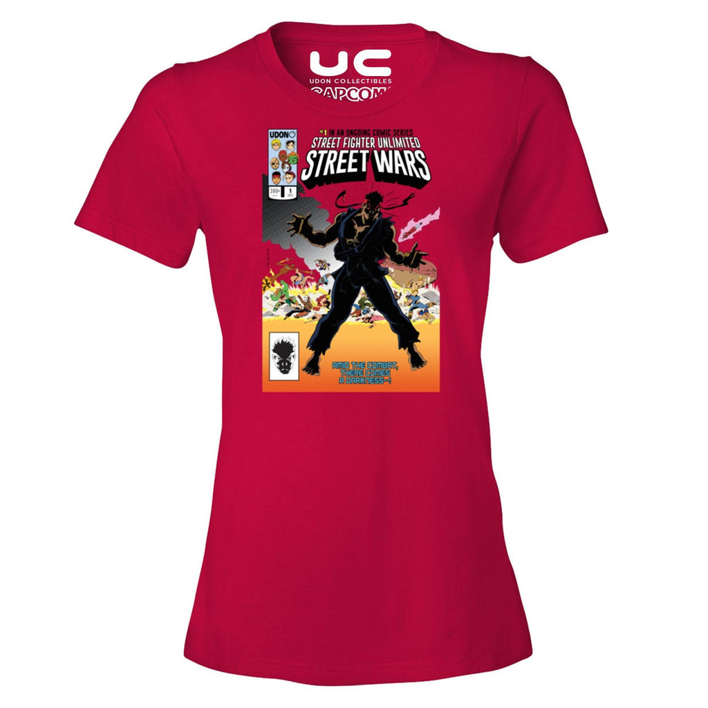Street Wars Women's Street Fighter Shirt  UdonCollectibles