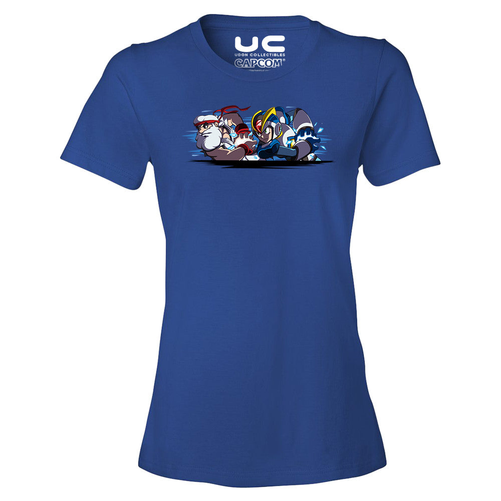 Mega Man X: Team Light Hadoken! - Mega Man Legacy Collection Women's T-Shirt Shirt UdonCollectibles