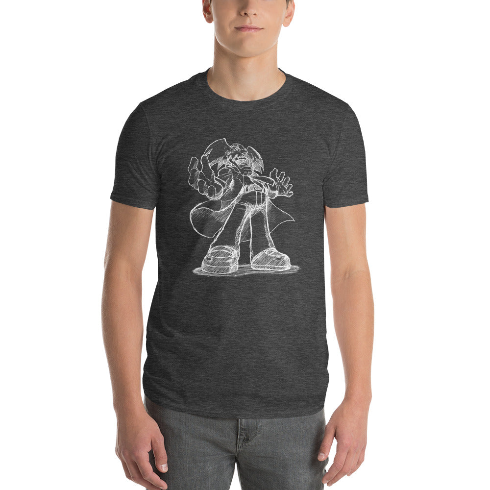 Mega Man Sketch Dr. Wily Men's Shirt Shirt UdonCollectibles