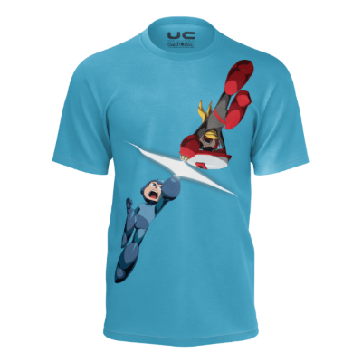 Mega Man Versus Proto Man - Mega Man Legacy Collection Men's T-Shirt Shirt UdonCollectibles