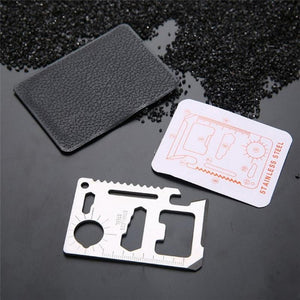 11-in-1 Multifunction Credit Card Survival Tool - Survival Cat