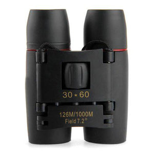 30 x 60 Zoom Instant-Focus Folding Binoculars - Survival Cat