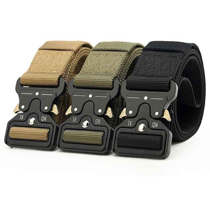 SC-TB1 Heavy Duty Tactical Utility Belt w/ Metal Buckle - Survival Cat