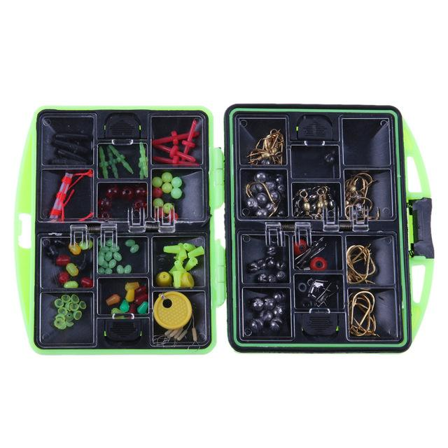 Compact 100 Piece Fresh Water Fishing Accessory Kit & Tackle Box - Survival Cat