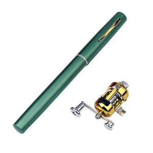 Mini Pocket-Sized Pen-Style Fishing Rod and Reel - Survival Cat