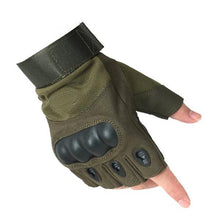 Load image into Gallery viewer, SC-TG2 Hard Knuckle Military Style Tactical Gloves (Half Finger) - Survival Cat