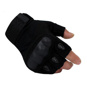 SC-TG2 Hard Knuckle Military Style Tactical Gloves (Half Finger) - Survival Cat
