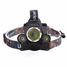 Load image into Gallery viewer, Triple Barrel 6000 Lumens 4-Mode Headlight Head Lamp - Survival Cat