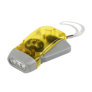 Manual 3-LED Hand Crank Emergency Flashlight - Survival Cat