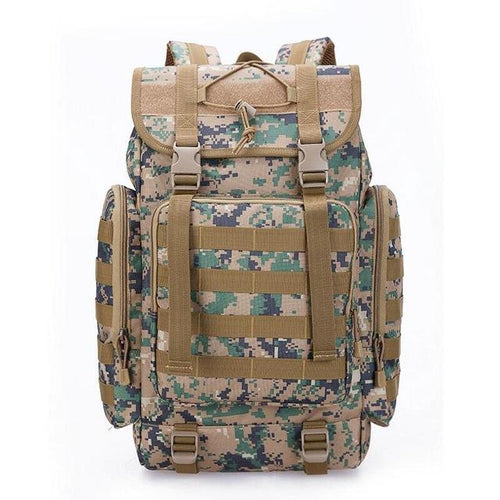 Military Style Outdoor Large 40L MOLLE Webbings Backpack - Survival Cat