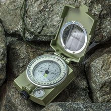 LSC1 Professional Metal Military Lensatic Sighting Compass - Survival Cat