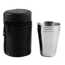 Load image into Gallery viewer, Stainless Steel Portable Outdoor Cups (Pack of 4) - Survival Cat