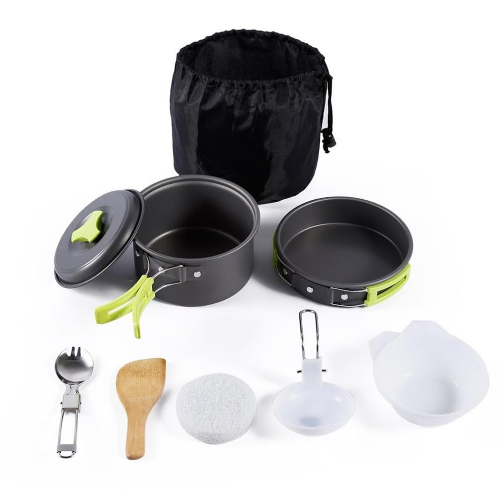 8 Piece Camping Cookware Set - Survival Cat