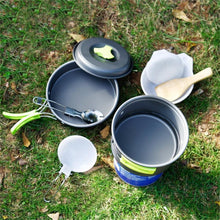 Load image into Gallery viewer, 8 Piece Camping Cookware Set - Survival Cat