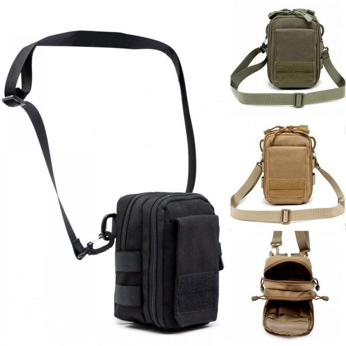 SC-P7 Compact Military Style MOLLE Pouch/Bag with Shoulder Strap - Survival Cat