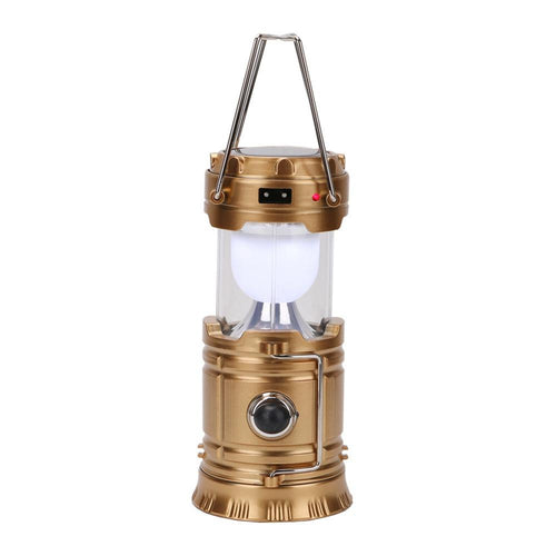 Solar Powered 3-Mode LED Lantern/Flashlight with USB Power Bank - Survival Cat