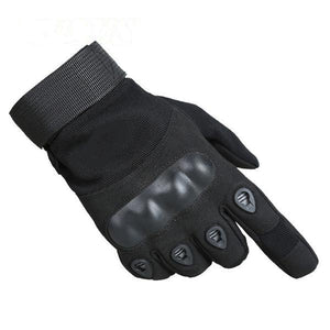 SC-TG1 Hard Knuckle Military Style Tactical Gloves (Full Finger) - Survival Cat