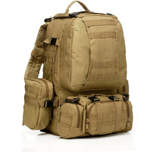 Load image into Gallery viewer, SC-3M50 Large Outdoor Military Style 50L Backpack/Daypack w/ 3 MOLLE Bags - Survival Cat