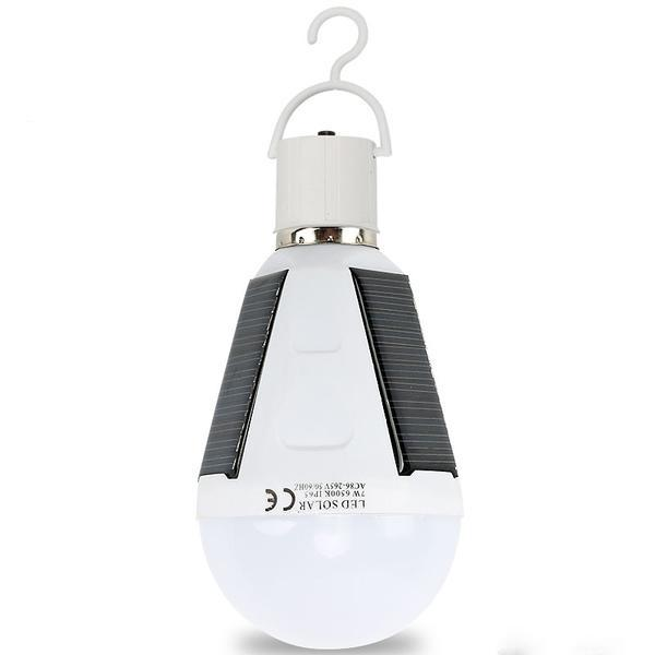 Solar Rechargeable 12W LED Camping Light Bulb - Survival Cat