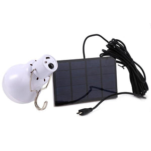 Solar Panel Powered 15W LED Outdoor Light Bulb - Survival Cat