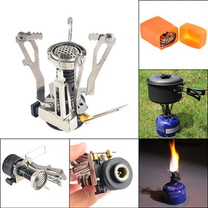 Ultralight Portable Outdoor Pot/Pan & Stove Set with Piezo Ignition - Survival Cat