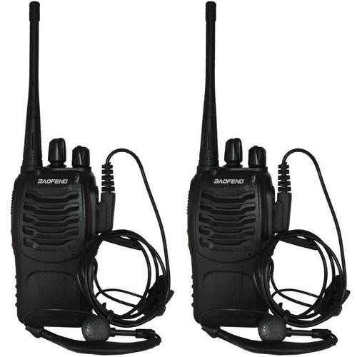 BF-888S Two-Way Walkie Talkie Portable Radios (Pack of 2) - Survival Cat