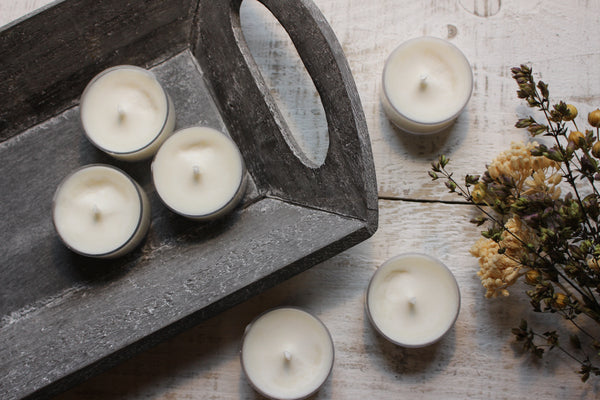 pure soy tea light candles scented in your choice of fragrance