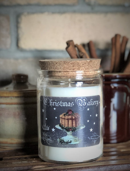 Christmas Bakery  - 12 oz corked jar - Gingerbread House scent