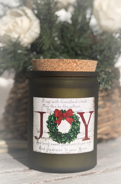 Christmas Joy  - 12 oz corked jar - Christmas Cheer scent