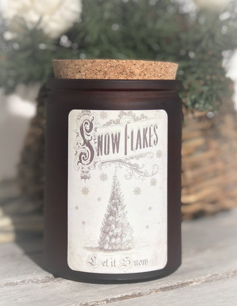 Let it Snow - 12 oz corked jar - Jack Frost scent