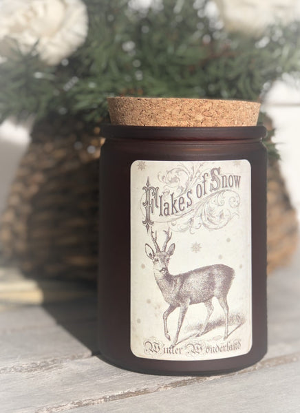 Winter Wonderland - 12 oz corked jar - Winter Woods scent
