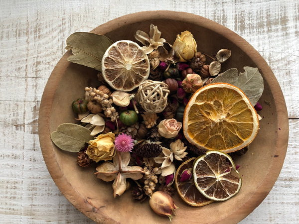 our cottage garden potpourri in a bowl