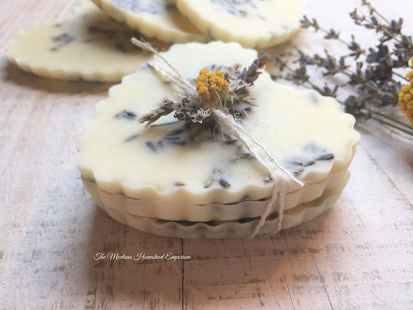 our Lemon Lavender soy and beeswax hearts
