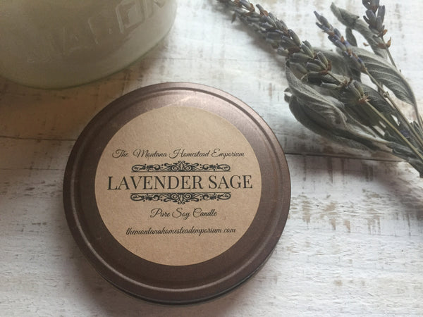 Lavender Sage scented soy candles
