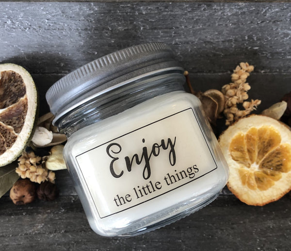 Enjoy the Little Things 6 oz soy jar candle