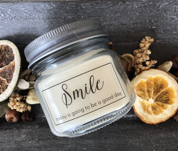 smile pure soy wax candle