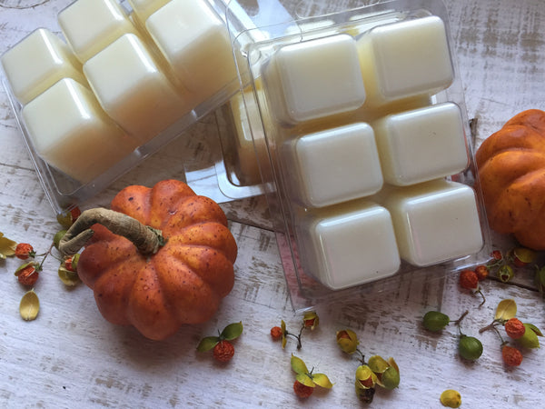 premium soy & beeswax melts in pumpkin fragrances