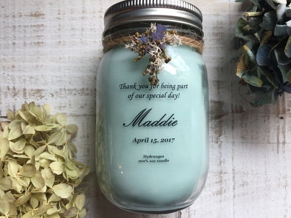 bridesmaid candle gift pure soy decorated candle