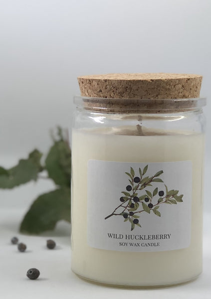 Huckleberry soy candle