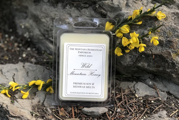 (1) clam shell wax melt pack - Wild Mountain Honey scent