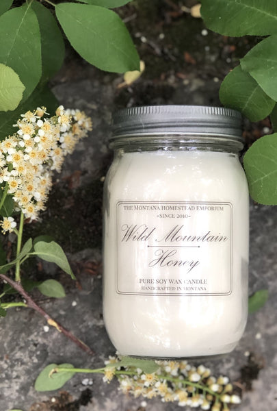16 oz. Wild Mountain Honey soy jar candle