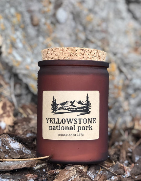yellowstone national park candle gift