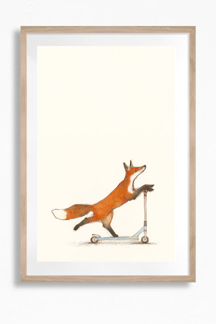 Fox on Scooter by Freya Blackwood