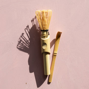 Matcha Bamboo Whisk + Scoop