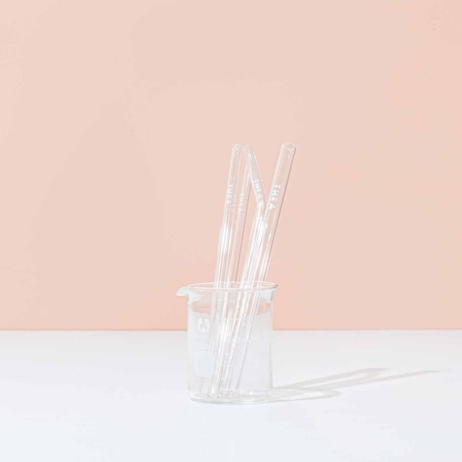 Reusable Glass Straw Set - Includes Bubble Tea Straw - Thea