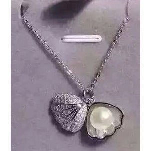 Sterling Silver Clam Pendant & Freshwater Pearl - The Pearl & Stone Jewelry