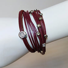 Leather Wrap Bracelet with Round Charms - The Pearl & Stone Jewelry